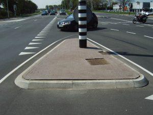 verkeersdruppel betonstraatstenen